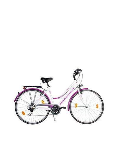 "SCH Bicicleta Trekking 28"" Infinity Acc. 6 V Eco Power Blanco / Violeta"