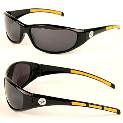 NFL Team 3 Series Style Sport Sunglasses (UV 400 protection) (Pittsburgh Steelers)