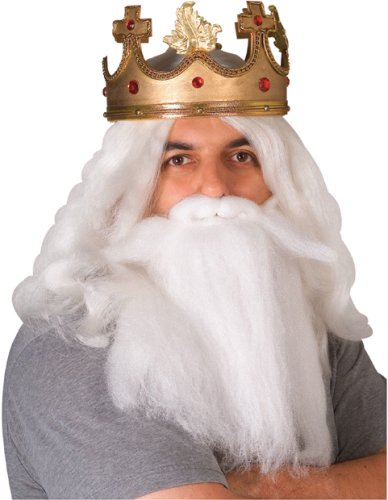 Adult's King Neptune Costume Wig and Beard Set