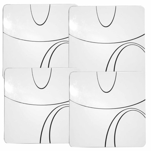 Reston Lloyd Corelle Coordinates, Gas Burner Covers, Set Of 4, Simple Line