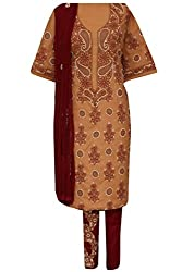 ADA Traditional Ethnic Needlecraft Embroidered Suit Piece For Women A82785