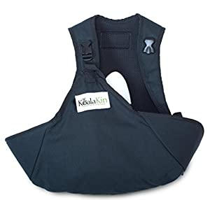 KoalaKin, Hands Free Nursing Pouch, Black/Green (Small Vest, M/L Pouch)