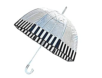 Totes Clear Bubble Umbrella Blk Wht