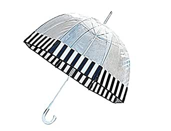 Totes Clear Bubble Umbrella Blk Wht