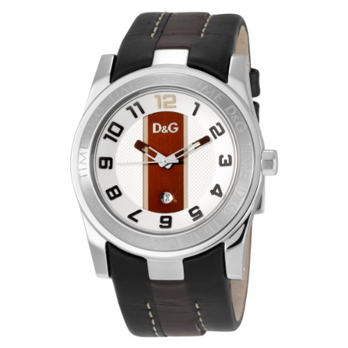 D&G Dolce & Gabbana Unofficial Strap Silver Dial Men's Watch #DW0263