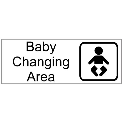 Compliancesigns Engraved Plastic Unisex / Family / Assisted Sign With Symbol, 8 X 3 White front-136218