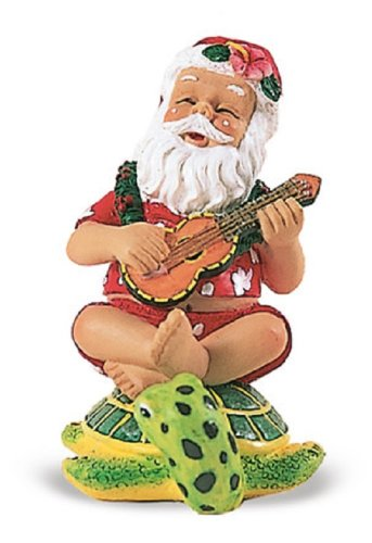 trumming Santa on Honu Ornament
