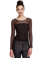 Limited Edition Spotted Lace Top with Camisole