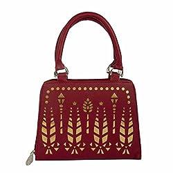 EDGEKART PU Leather Handbags For Women - Red