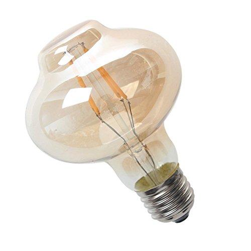 Luxon LED Vintage Antique Amber Edison light bulb 4W E26 Lantern shaped light bulb Warm White 2700k120v (Lightbulb Shaped Led compare prices)