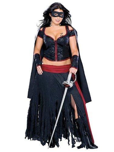 Lady Zorro Costume - Plus Size - Dress Size 16-20