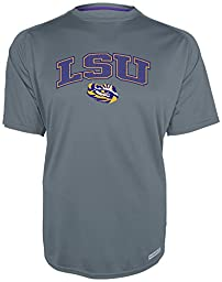 NCAA LSU Tigers Men\'s Training 2 Short Sleeve Crew Neck Shirt, X-Large, Grey