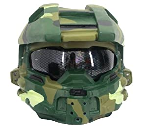 Master Chief Helmet Mask for Halloween Cosplay Costume Full Size Army Version