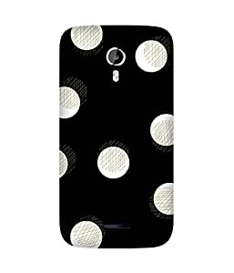 White Dots Golden Micromax Canvas Magnus A117 Printed Back Cover