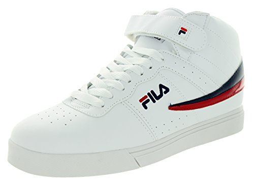 Fila Men's Vulc 13 Wht/Flnvy/Flred Casual Shoe 8 Men US