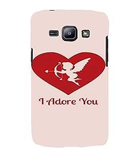PrintVisa Valentines Day Design 3D Hard Polycarbonate Designer Back Case Cover for Samsung Galaxy J1