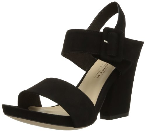 JB Martin Women's Maelys Fashion Sandals Black Noir (Chèvre Velours Noir) 4