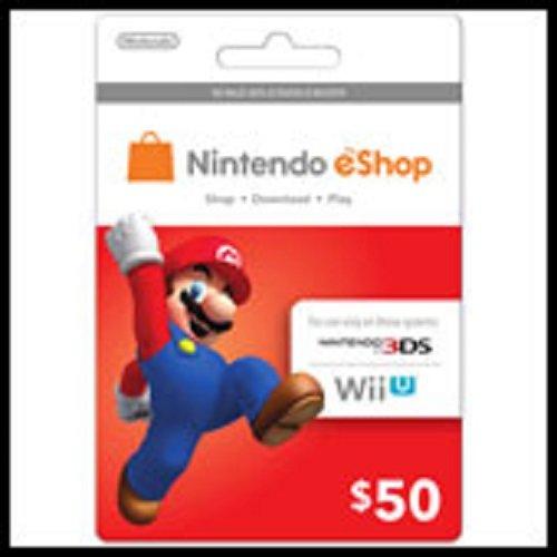 Nintendo Eshop Prepaid Card $50 for 3ds or Wii U image