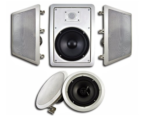 Acoustic Audio Ht-85 5.1 Home Theater Speaker System (White, 5)
