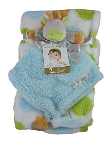 c216c18d04 Blankets and Beyond 2 Piiece Baby Blanket Set   Cute Giraffe Security  Blanket
