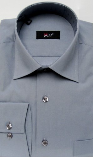 MUGA mens shirts for Casual and Formal, Grey, Size L