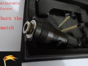 High Power Laser Pointer Can Burn Match Adjustable Focus Red Beam 5mw 650nm Give Away a Solar Grasshopper Charger and Battery Is Included