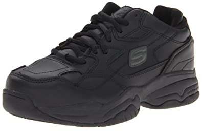 Skechers for Work Women's Felix Doozer Work Shoe,Black,5 M US