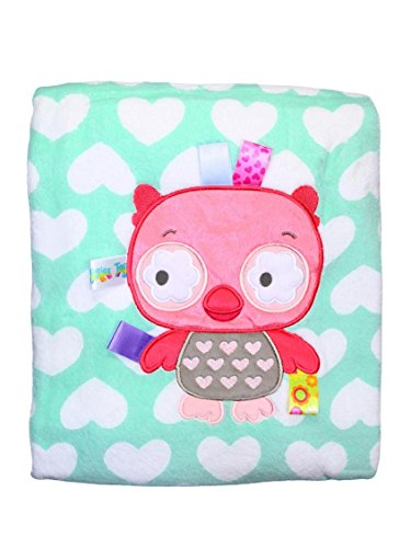 Taggies Baby Girl Owl and Heart Stroller Blanket by Taggies - Green - Not Applicable