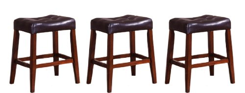 Stunning 3 24 Quot Saddle Back Espresso Amp Cherry Legs Wooden