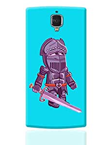 PosterGuy OnePlus 3 Case Cover - Cartoon Knight (Purple) | Designed by: Famekrafts