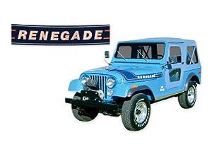 1975 1976 Jeep Renegade CJ5 CJ7 Decals & Stripes Kit - GOLD
