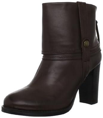 Adrienne Vittadini Footwear Women's Billy Motorcycle Boot,Dark Brown,6.5 M US