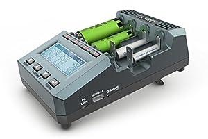 ARINO SKYRC MC3000 Universel Testeur de Pile / Chargeur de Batterie Appareil Bluetooth 4.0 avec Ecran LCD pour Batterie Etat Supporte 7+Batteries Types et 42+Tailles, PC et Téléphone APP Contrôle Application