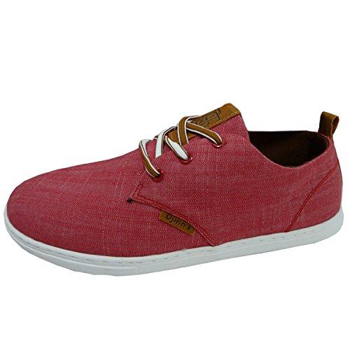 Djinns Linen Herren Low-Sneaker Rot