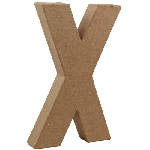 country-love-crafts-825-inch-205cm-3d-letter-x-papier-mache