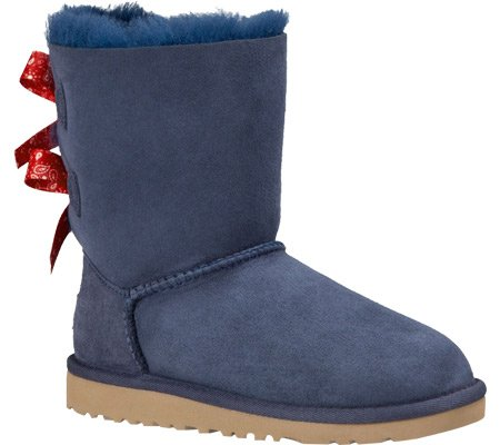 UGG Big Kids Bailey Bow Bandana Boot Indigo Size 5 M US Big Kid (Blue Bow Uggs compare prices)