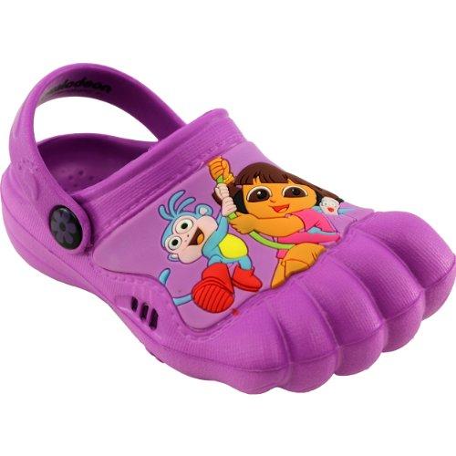 Dora The Explorer Kids Purple Silly Feet Clogs 01977 (7/8 M Us Toddler) front-1042213