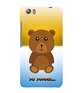 Teddy Bear 3D Hard Polycarbonate Designer Back Case Cover for Micromax Canvas Fire 4 A107
