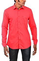 Indipulse Men's Casual Shirt (IF11600618A, Red, XL)