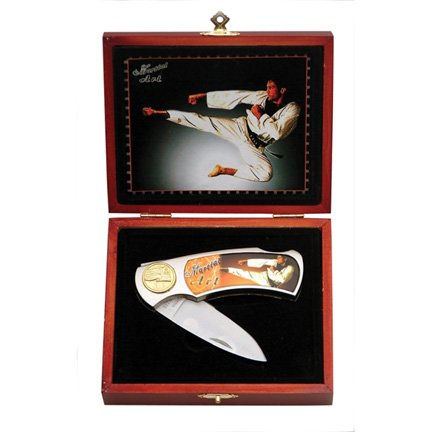 Martial Arts Flying Kick Boxed Gift Knife