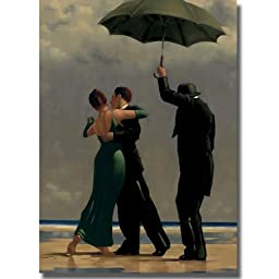Dancer in Emerald by Jack Vettriano Premium Stretched Canvas (Ready-to-Hang)