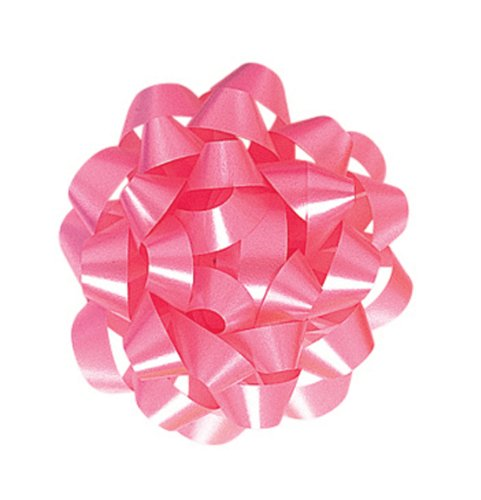 The Gift Wrap Company 12 Count Decorative Confetti Gift Bows, Large, Pink front-530426