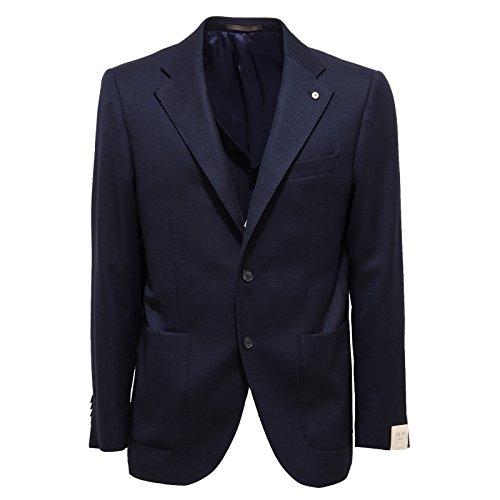 1742Q giacca L.B.M. 1911 blu giacca uomo jacket coat men [48 S]