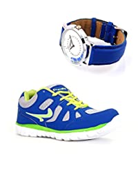 Elligator Sports Shoes With Lotto Blue Watch - B00WSA8O80