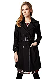 Per Una Classic Collar Belted Trench Mac with Shower Resistant