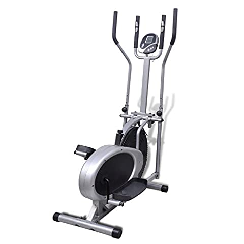 Anself Elliptical Trainer with Seat for Home Gym - Home Elliptical Trainer