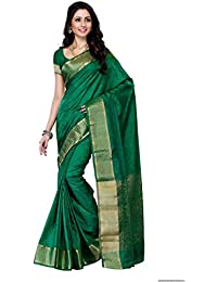 Mimosa Women'S Tussar Silk Saree With Blouse,Color:Green(3196-2073-GRN)
