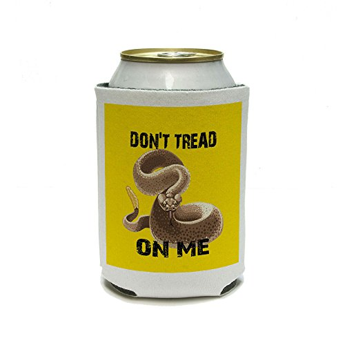 Gadsden Flag Color Don'T Tread On Me Rattlesnake Tea Party Can Cooler - Drink Insulator - Beverage Insulated Holder