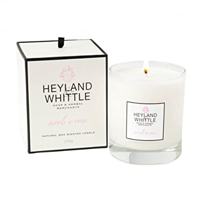 Heyland Whittle Neroli Rose Luxury Natural Wax Scented Candle Boxed 230g by Heyland & Whittle