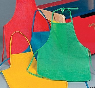 Child-size Aprons ~ Set of 12 ~ 4 Bright Colors ~ New